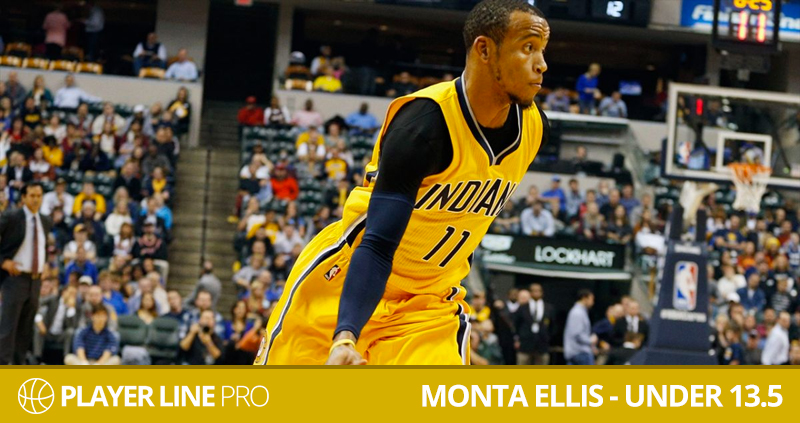 Monta Ellis under 13.5 | Player Line Pro